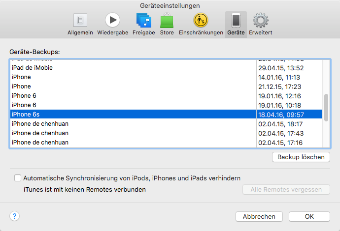 Iphone Backup Archivieren