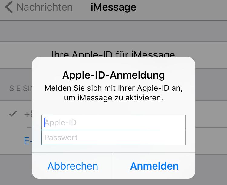 Apple ID und Passwort eingeben – Schritt 4
