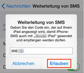 iPhone iMessage mit iPad empfangen – Schritt 5