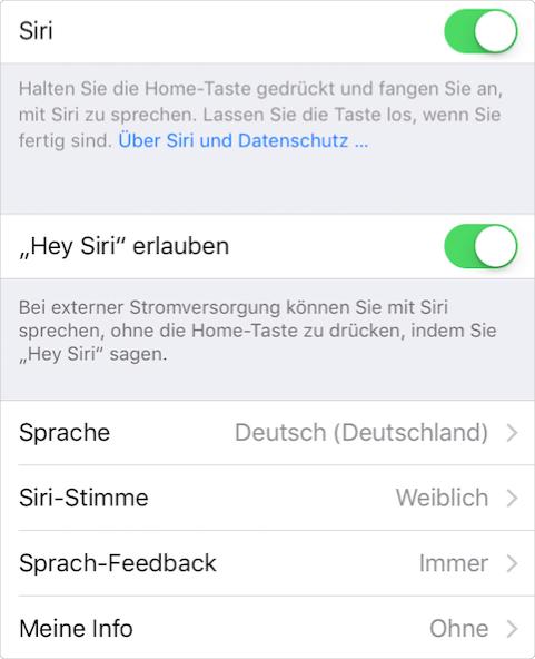 """Hey Siri"" aktivieren – Schritt 2"