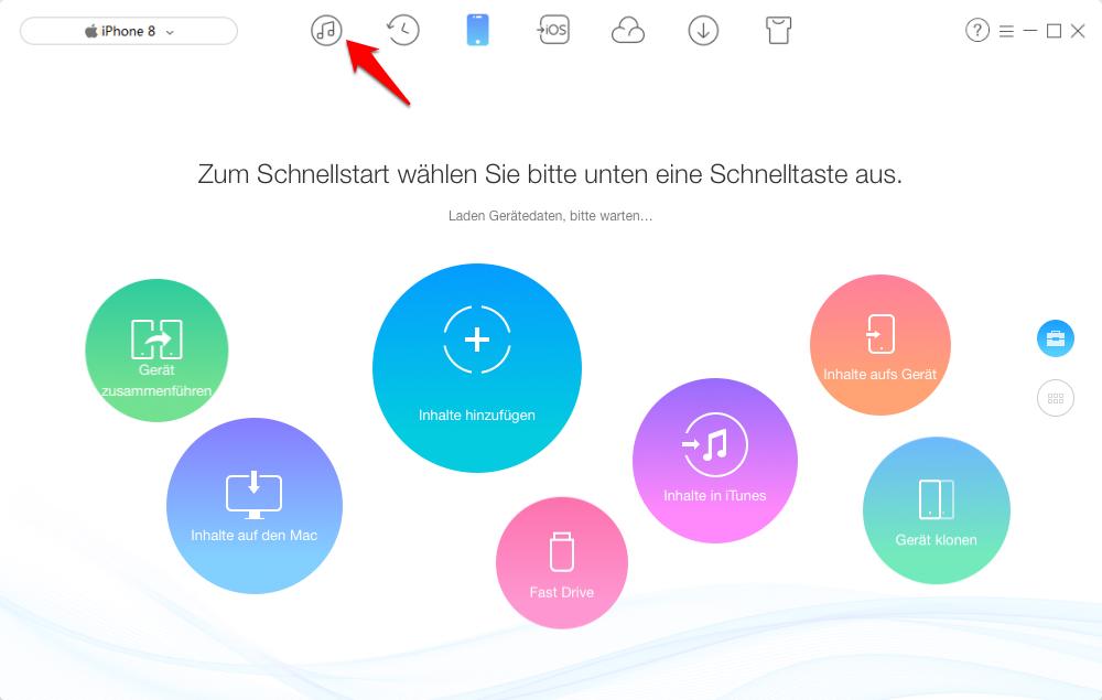 iPhone kann nicht verwendet werden – Daten von iTunes auf iPhone – Schritt 1