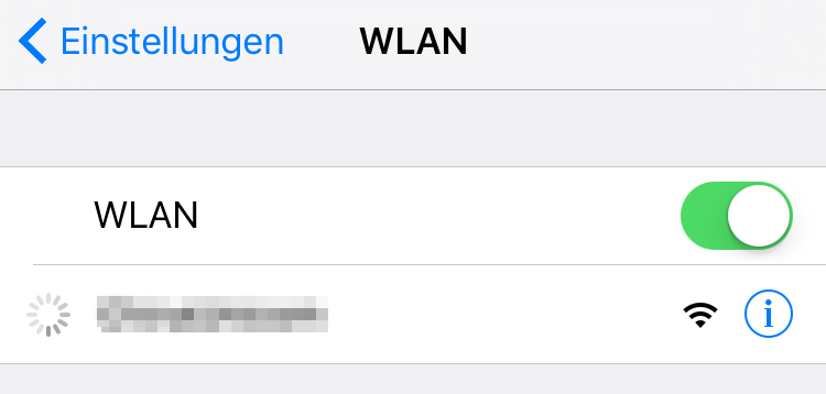 iPhone lädt Mail nicht - iPhone WLAN überprüfen