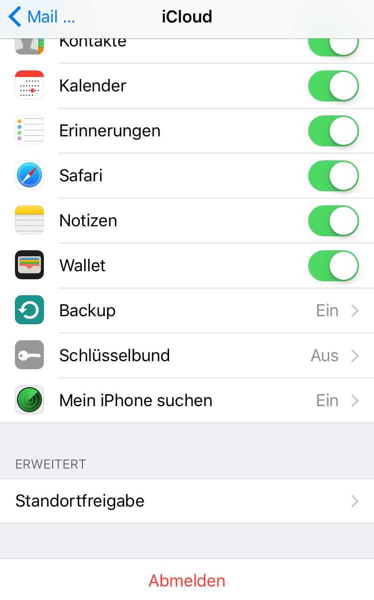 iPhone lädt Mail nicht: Mail Account neu einrichtent
