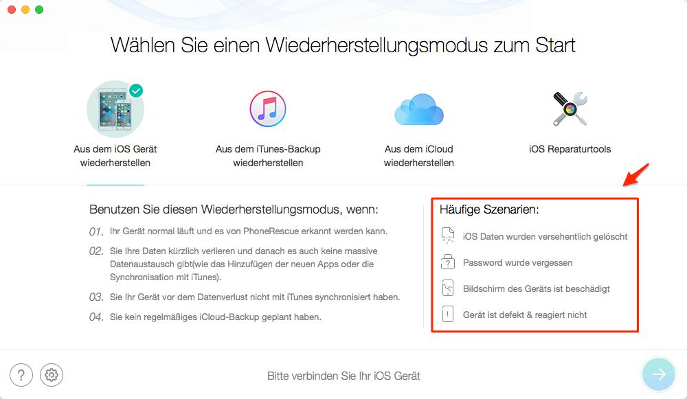 iPhone lässt sich nicht einschalten: Daten wiederherstellen