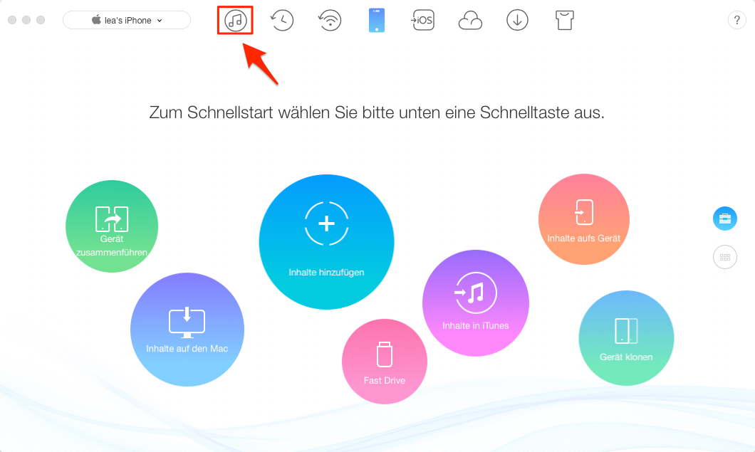 iPhone Synchronisieren mit AnyTrans