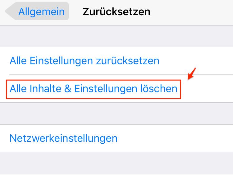 iOS-Gerät zurücksetzen – iPhone Wecker klingelt nicht