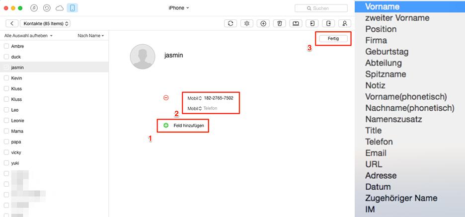 iPhone Kontakte mit AnyTrans einfach verwalten