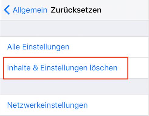 iPhone 5s zurücksetzen ohne iTunes – Schritt 4