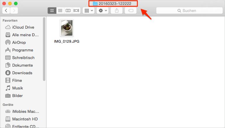 iPhoto Bilder im Finder am Mac anzeigen - Schritt 3