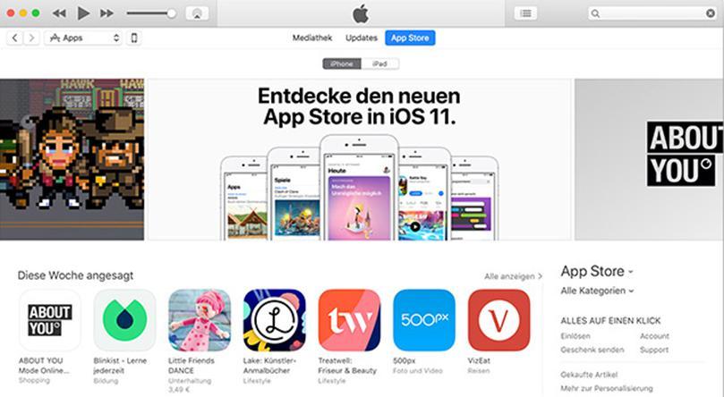 iTunes 12.6.3 bringt Apps und Klingeltöne zurück