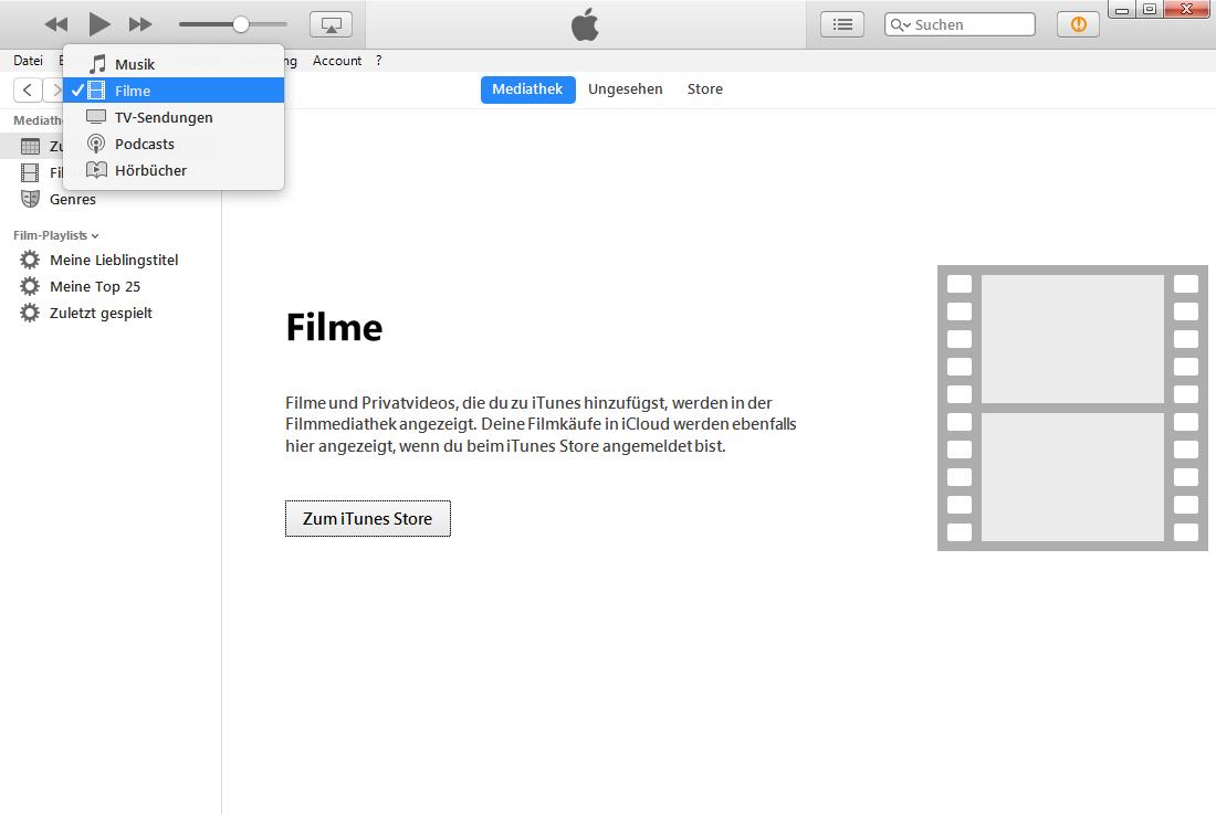 iTunes 12.7 Apps anzeigen – iTunes Apps werden nicht angezeigt