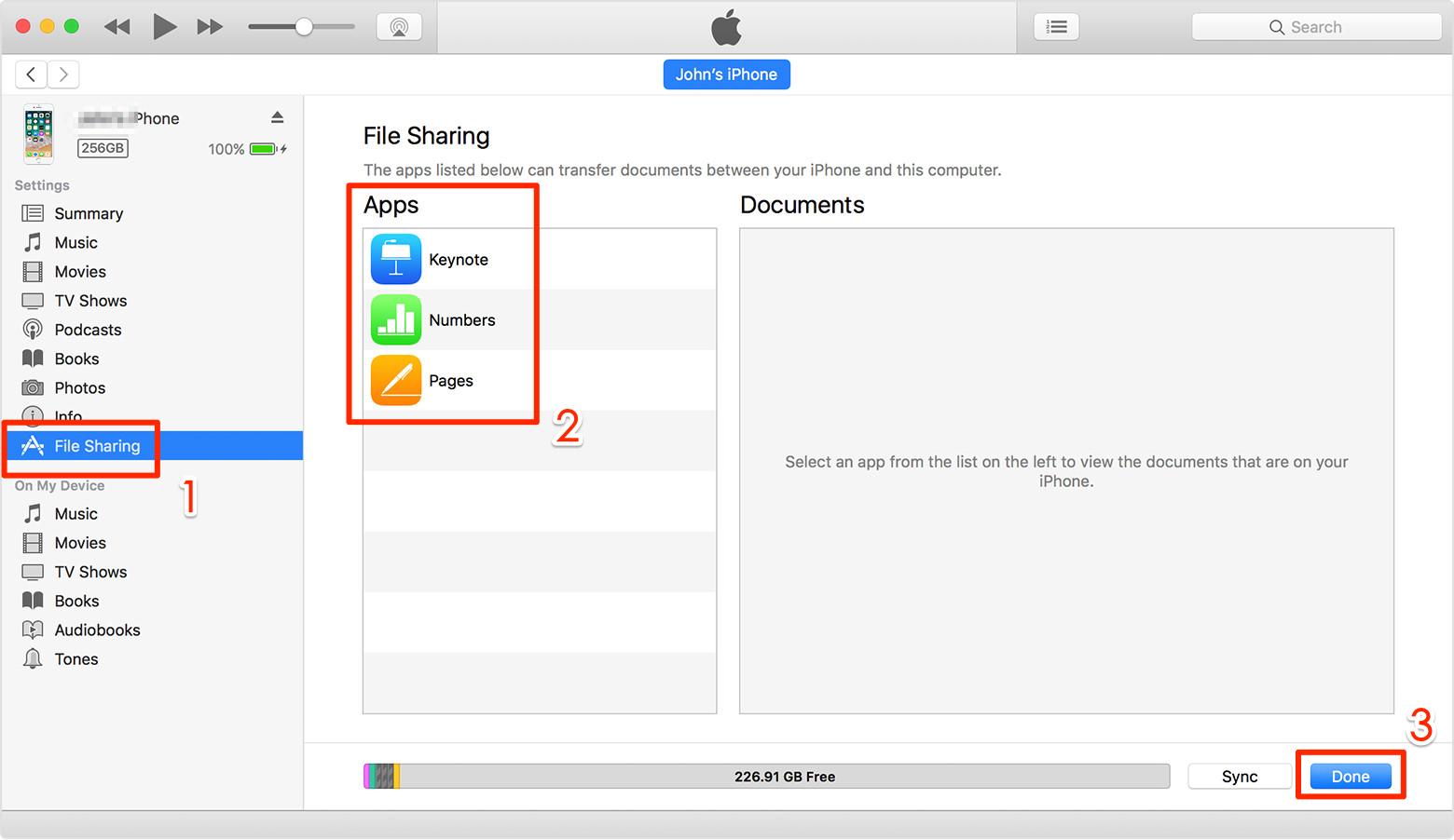 iTunes File-Sharing verwenden