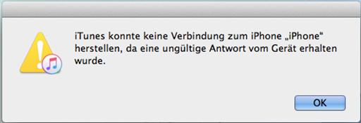iTunes findet iPhone nicht