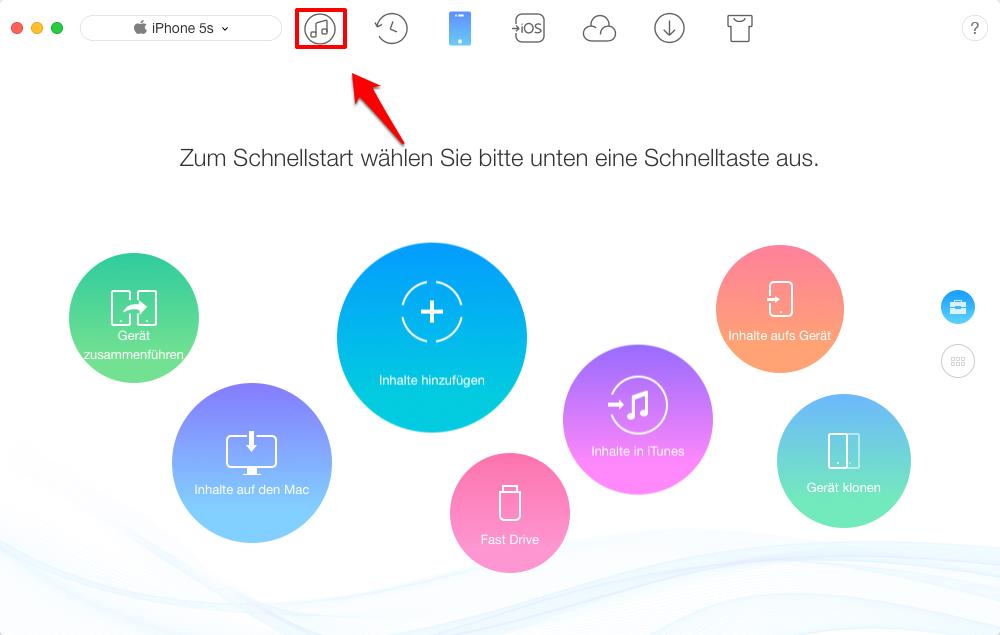 iTunes 12.7 Töne werden nicht angezeigt – iTunes Mediathek wählen