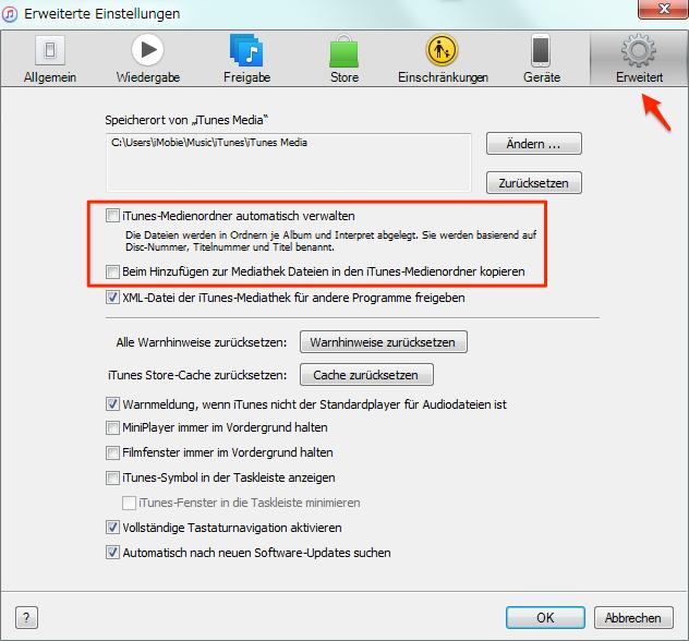 Lieder und Wiedergabeliste in iTunes importieren – Schritt 3