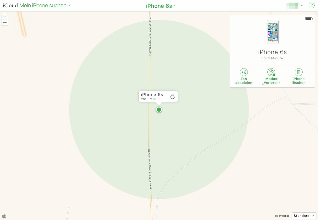 iPhone finden über iCloud