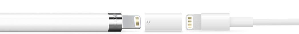 Apple Pencil mit Ladeadapter aufladen