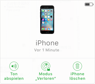 """iCloud zeigt Ihr iOS-Gerät unter """"iPhone-Suche"""""""