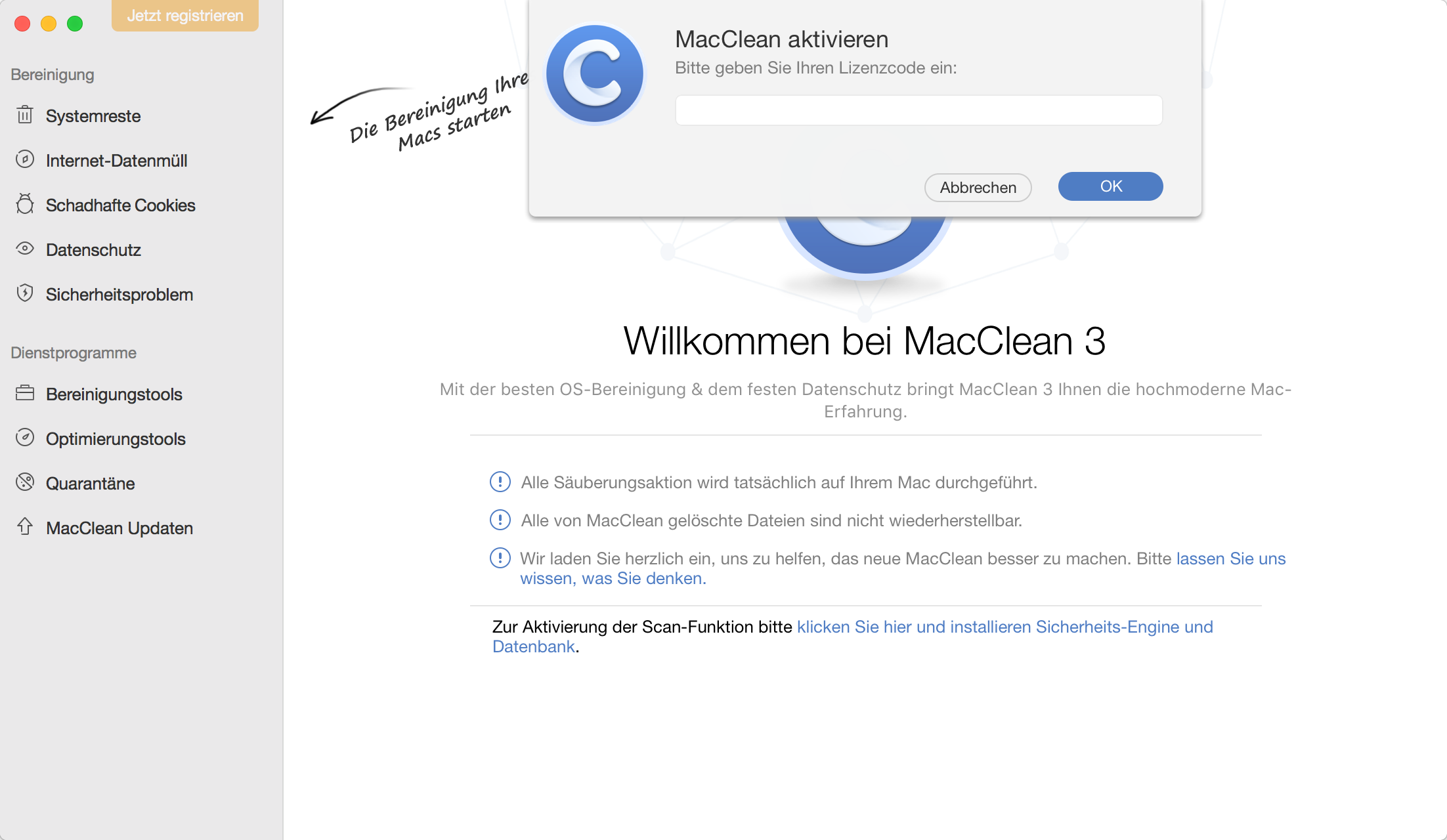 MacClean register successfully