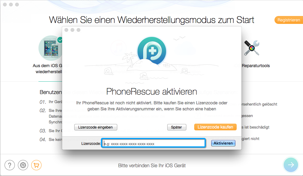 PhoneRescue Activation