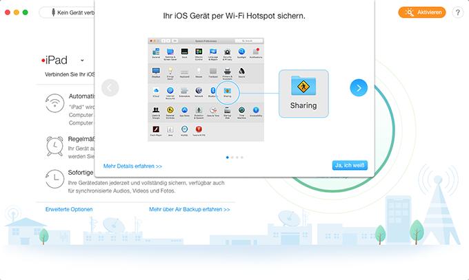 Mit Wi-Fi Hotspot verbinden