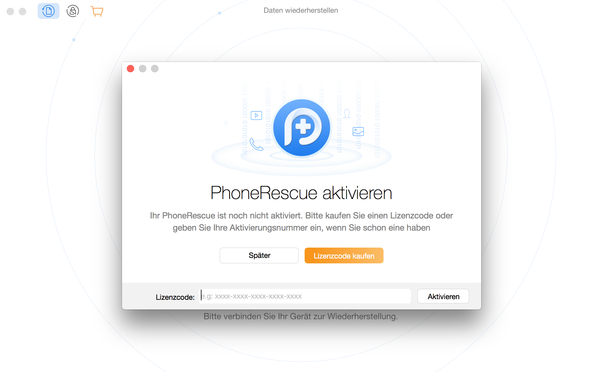 PhoneRescue für Google registrieren