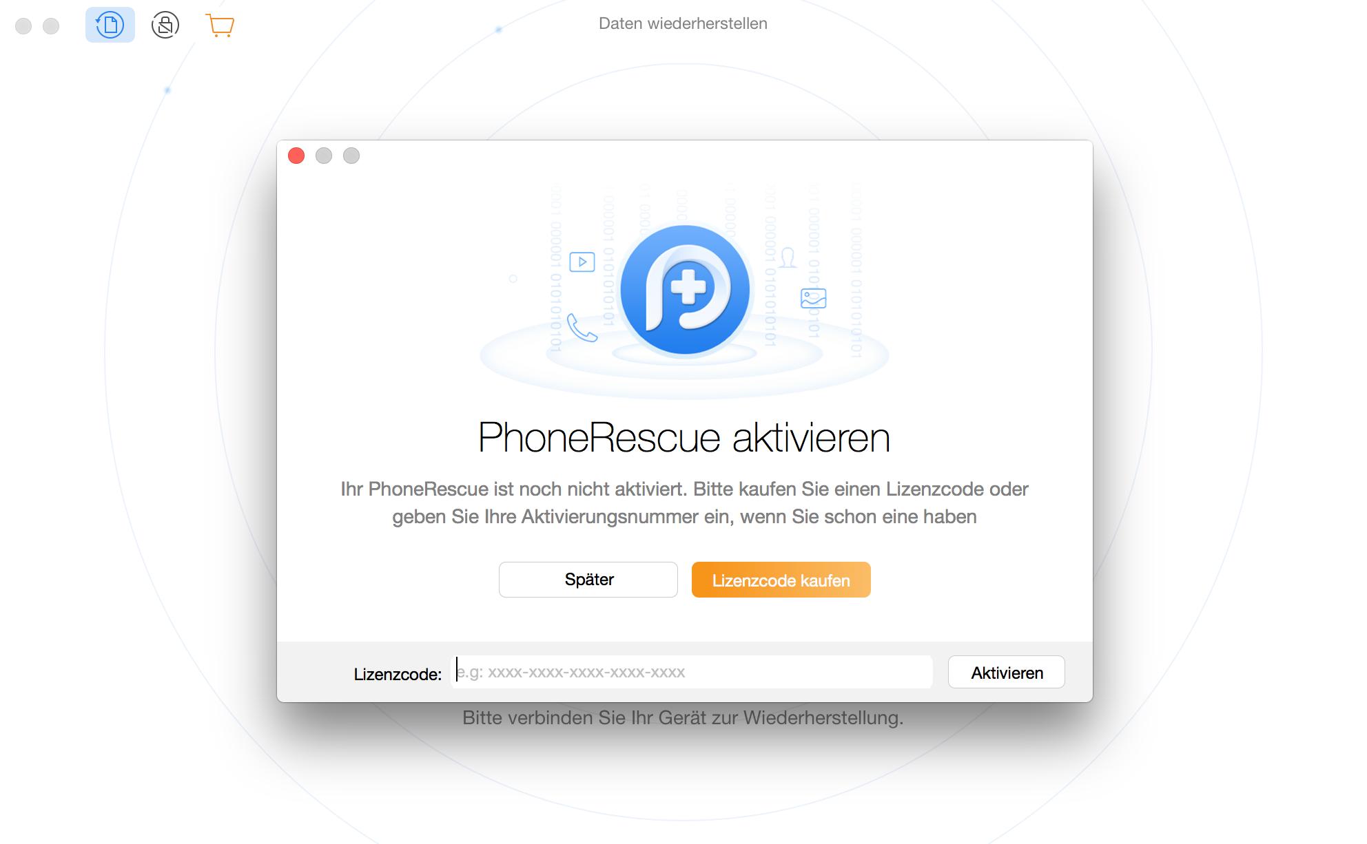 PhoneRescue für HUAWEI registrieren