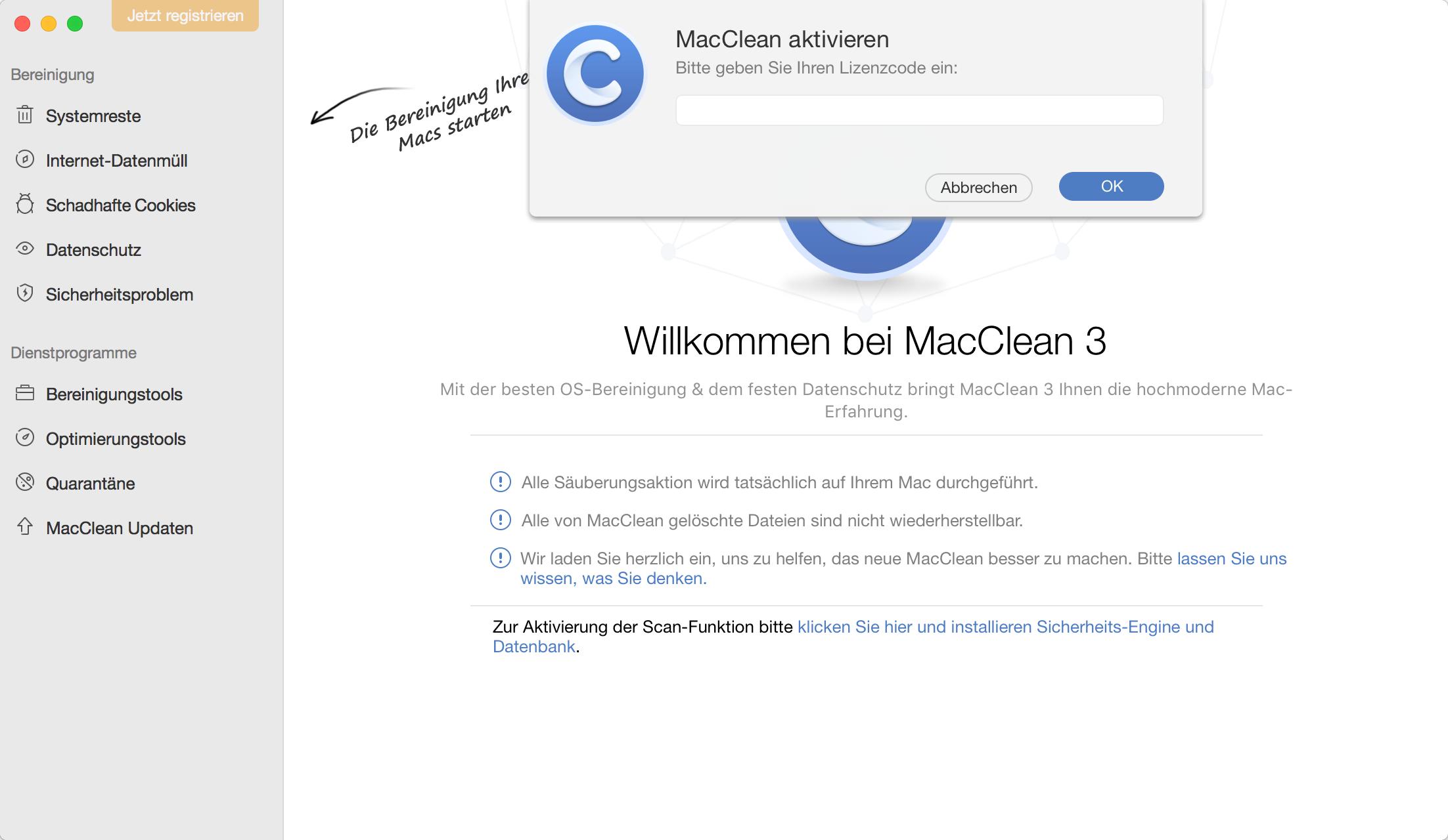 MacClean Aktivation