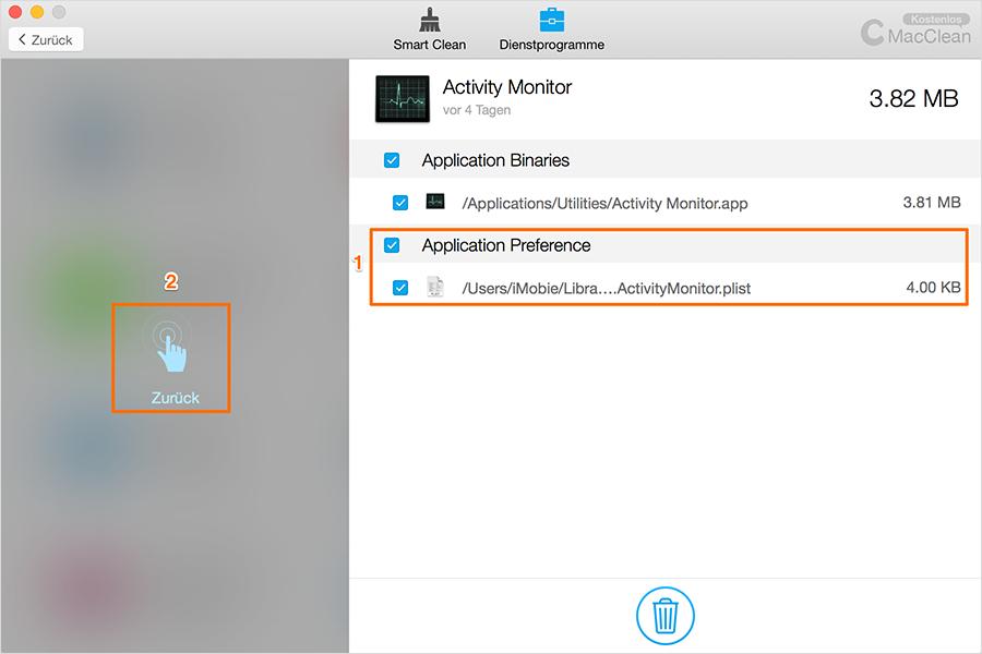 ausführliche Dateien von App – Schritt2