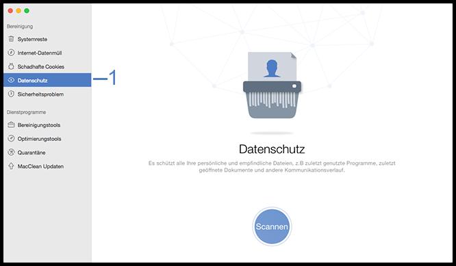 Datenschutz wählen