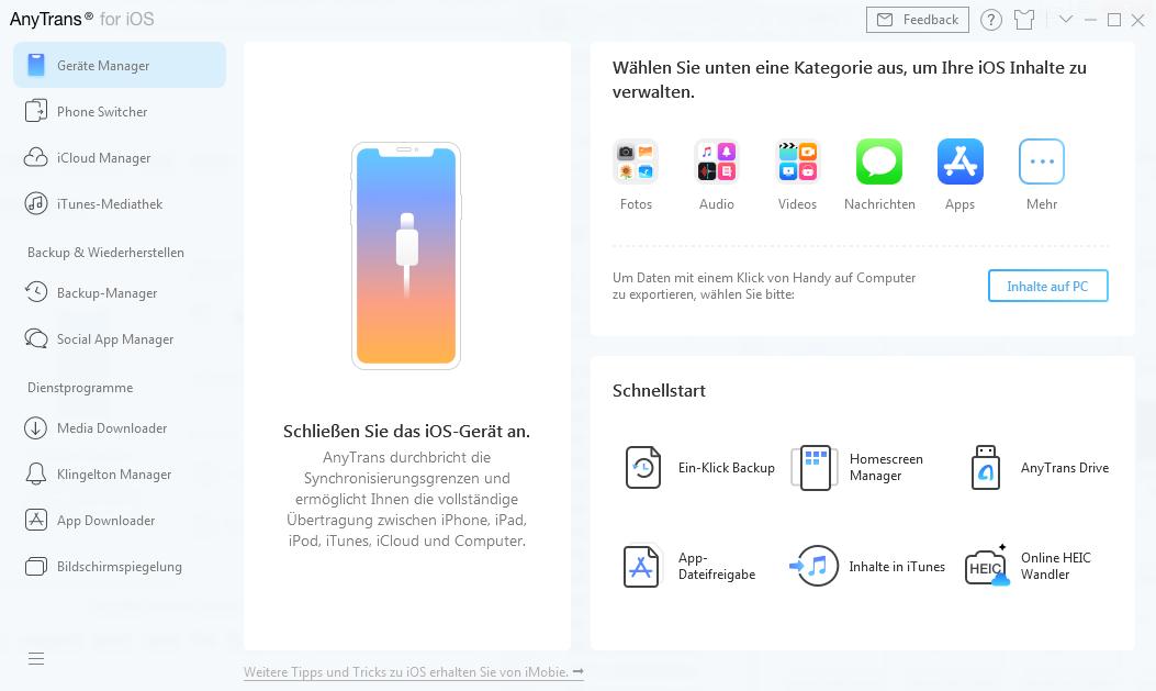 Ihr iOS-Gerät verbinden