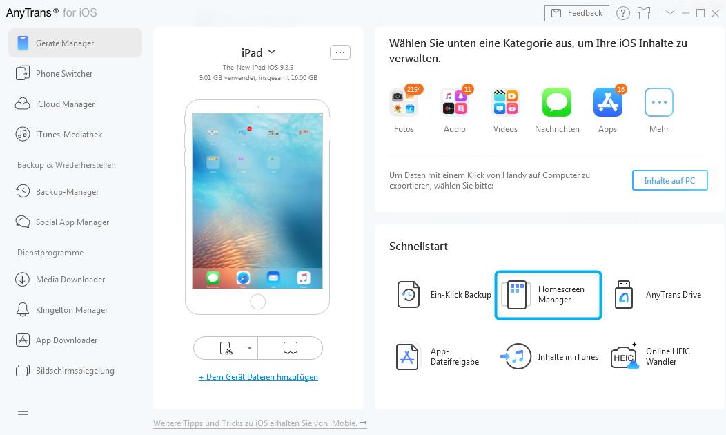 Ihr iOS Gerät verbunden