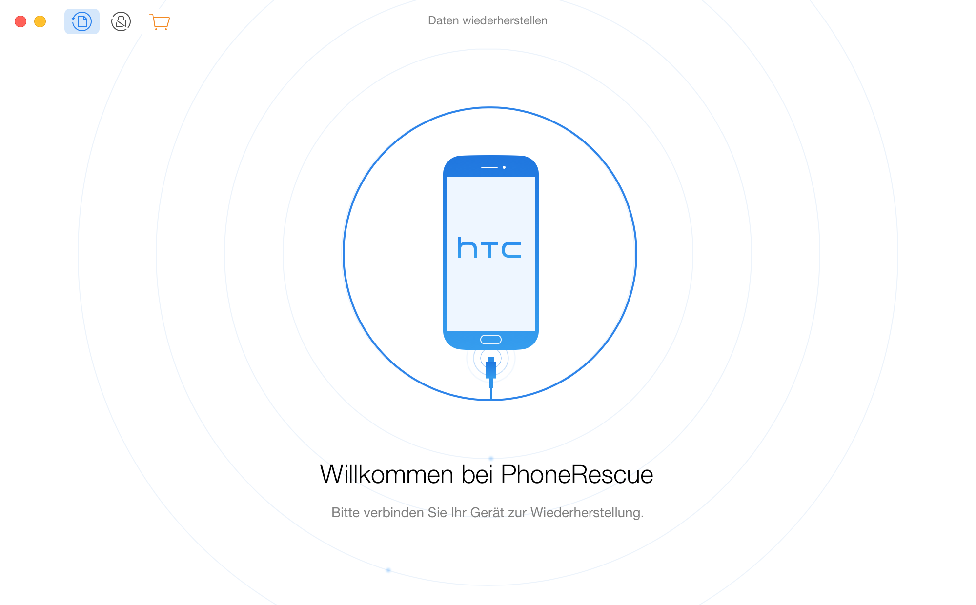 Willkommen bei PhoneRescue für HTC