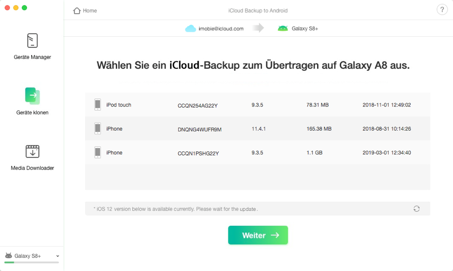 iCloud Backup to Android - 4