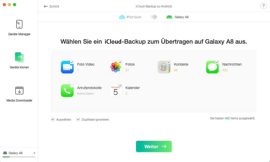 iCloud Backup to Android - 5