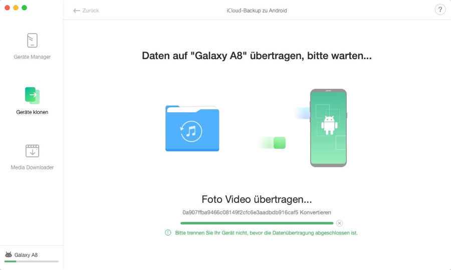 iCloud Backup to Android - 6