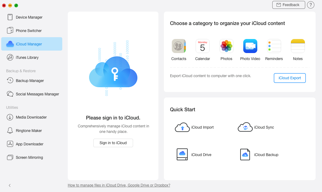 Melden Sie sich iCloud-Konto an