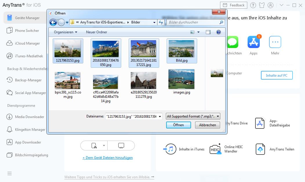 Dateien auswählen