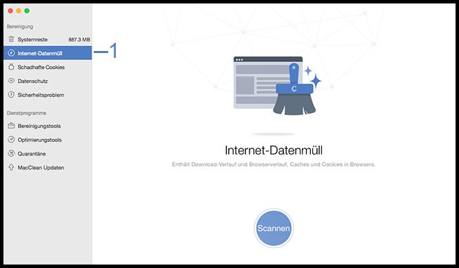 Internet-Datenmüll wählen
