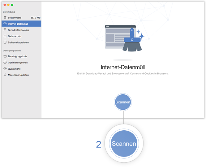Internet-Datenmüll scannen
