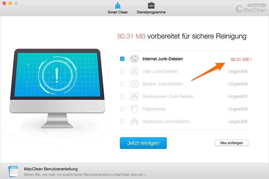 Die Information der Dateien überprüfen – Schritt 2