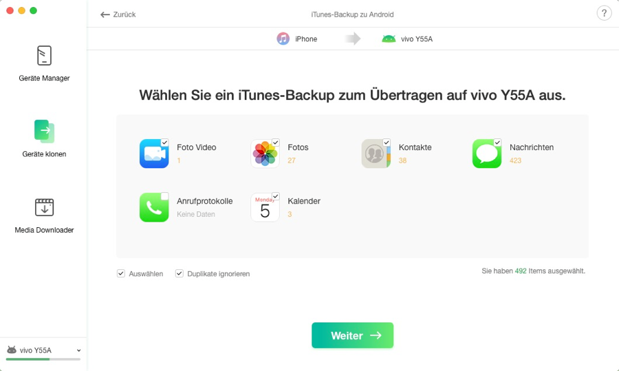 iTunes Backup to Android - 4
