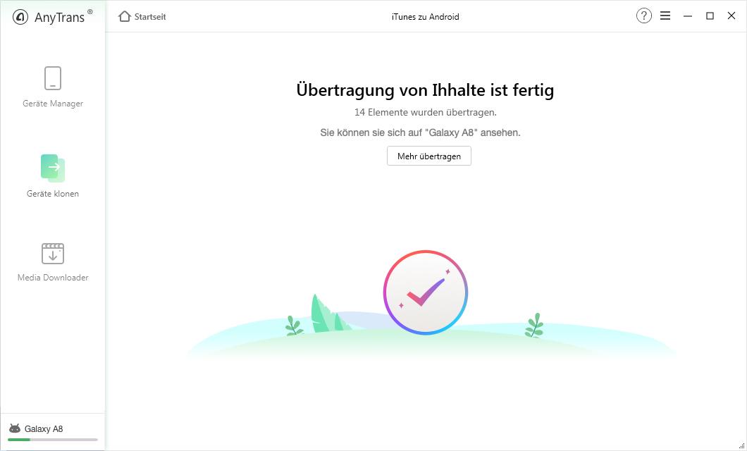 Daten von der iTunes Mediathek auf Android Gerät umziehen
