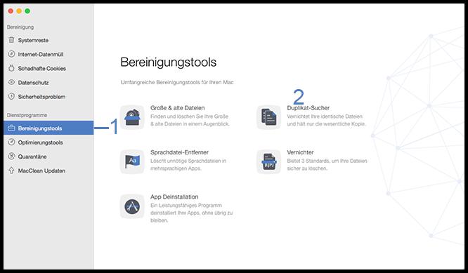 Dateien und Format-Entfernen wählen – Schritt2