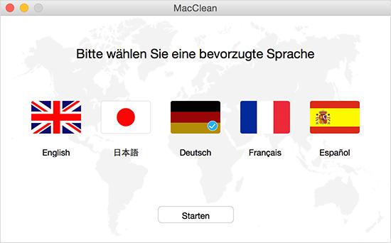 Die Sprache wählen