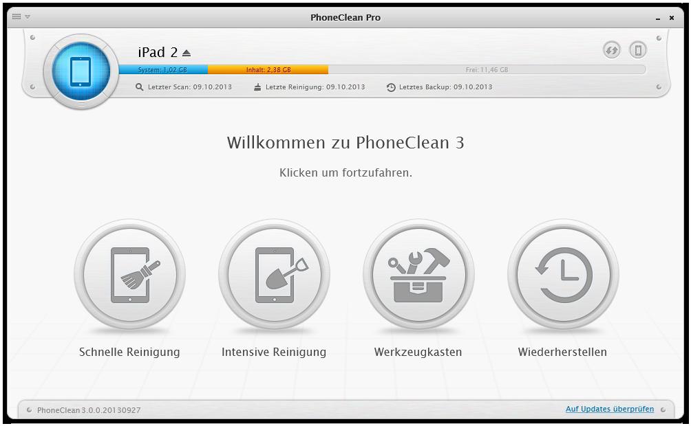 PhoneClean Überblick 2