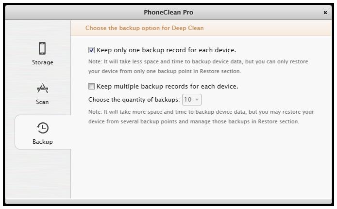 PhoneClean Überblick 5