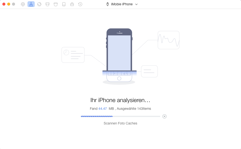 PhoneClean Analyse Seite