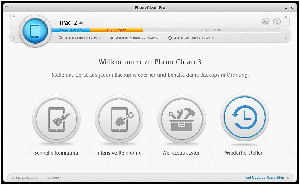 Ein iOS Gerät wiederherstellen 1