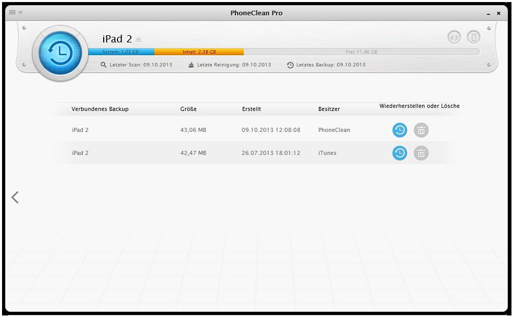 Ein iOS Gerät wiederherstellen 2